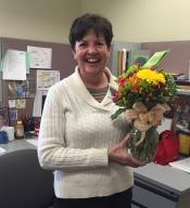 Nancy with Flowers