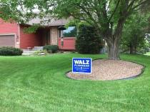 Walz lawn sign
